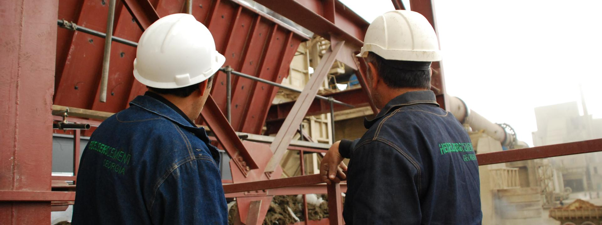 HeidelbergCement plant workers.